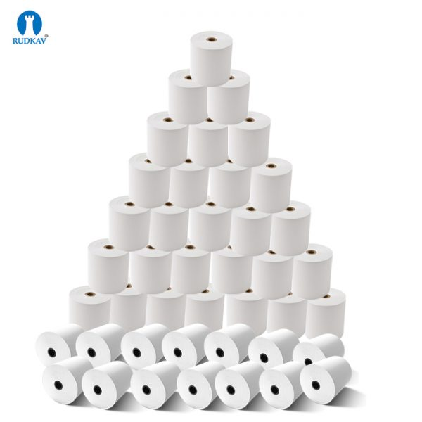 White 79 mm x 30 Meter Thermal Paper Roll (Pack of 10 Rolls)