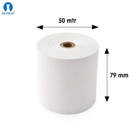Thermal paper 79 mm x 50 Meter  (Pack of 10 Rolls)